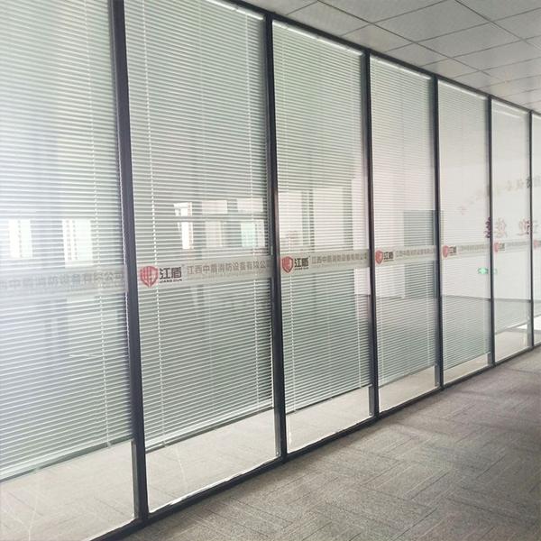 办公室防火玻璃隔断墙玻璃隔屏风不锈钢制玻璃幕墙断墙办公室隔断